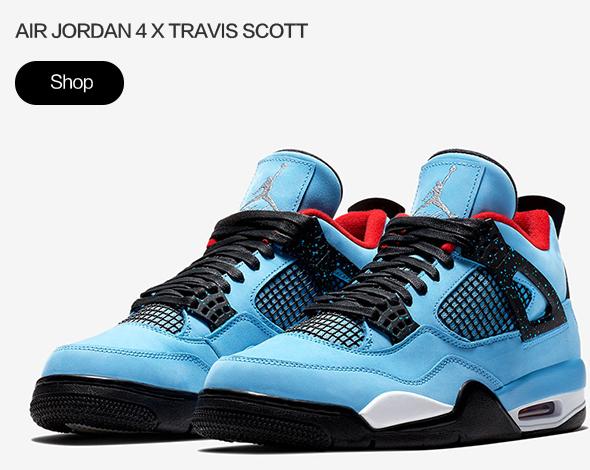 AIR Jordan 4 Retro Travis Scott Cactus Jack (UNIVERSITY BLUE/VARSITY RED-BLACK)